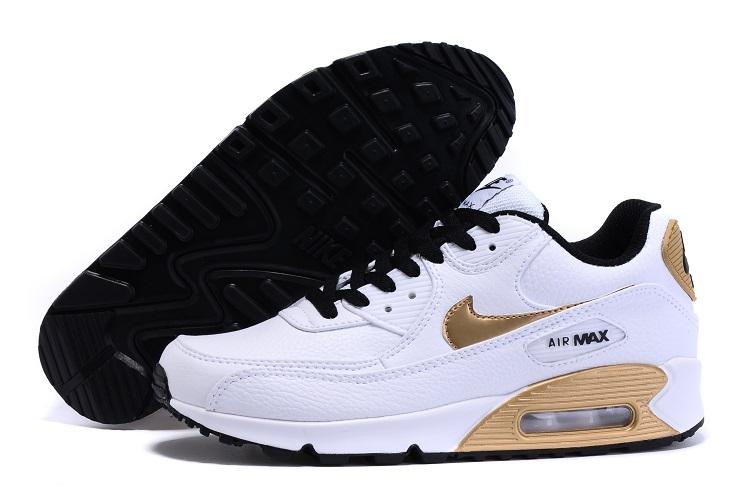 best sneakers 43d9f 2dcfb air max 90 soldes,vendre air max 90 premium femme blanc et doré,air